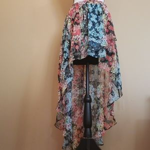 High Low Floral Skirt Size XL